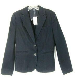 Banana Republic 6 Black Cotton Jacket Blazer NEW
